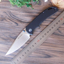 58-60HRC Ganzo G7531 440C G10 or Carbon Fiber Handle Folding knife Survival Camping tool Pocket Knife tactical edc outdoor tool