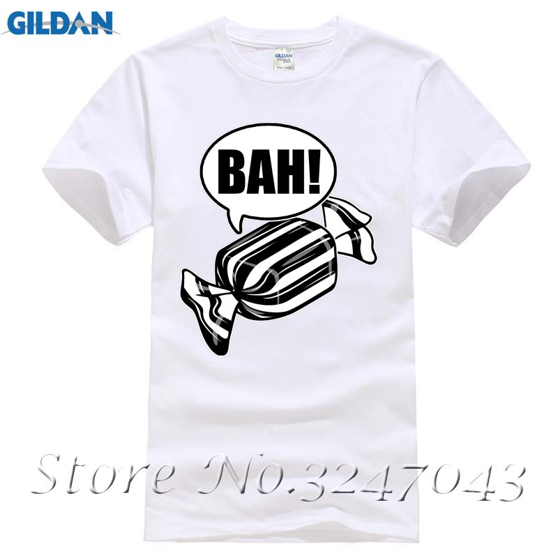 Лидер продаж Для мужчин футболка модная Бах Вздор! Черные и белые мятные конфеты Рождество Футболка мужская