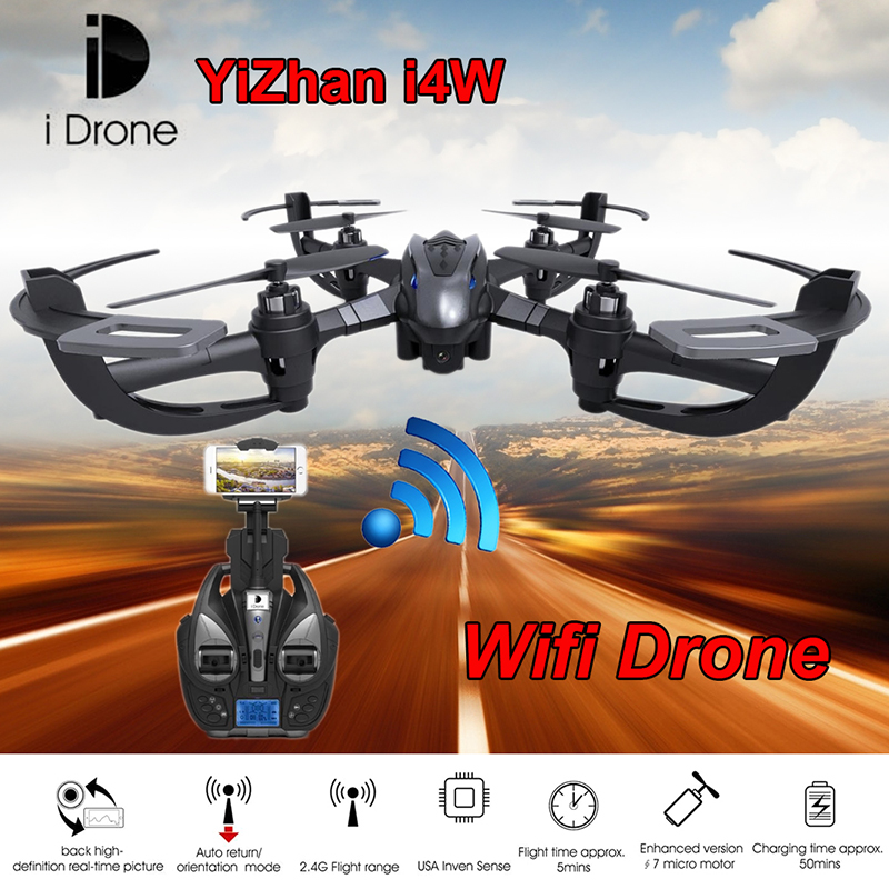 ФОТО wifi rc drone yizhan i4w rc quadcopter with wifi camera one key return remote control toy wifi fpv aerial helicopter vs mjx x101