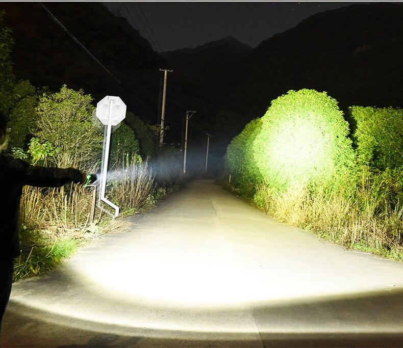 Super puissant led cree p70 lampe de lumière blanche chaude USB torche de charge éclairage extérieur lampe de chasse lampe de poche tactique