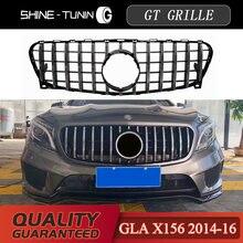 Rejilla delantera para M-B GLA GT GTR, GLA200, GLA250, GLA Clase 2014-16, malla ABS X156