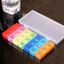 Laiwen 7 Days Weekly Tablet Pill Medicine Box Holder Storage Organizer Container Case 21Slots Pill Box