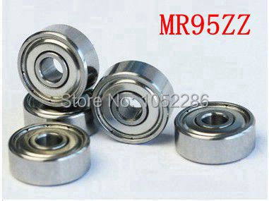 100pcs/lot   MR95ZZ  miniature model bearing MR95  MR95-2Z shielded  deep groove ball bearings 5x9x3 mm