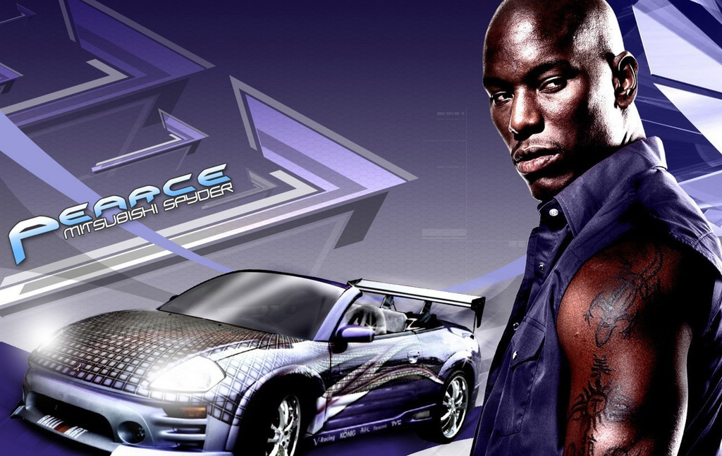 F3608 16x25 2 Fast 2 Furious Actor Tyrese Gibson Roman ...