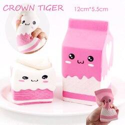 Hot jumbo kawaii Squishy bolsa de la caja de la leche/botella/puede apretar la diversión suave lento aumento lindo antiestrés juguete estrés reliever aplasta comida