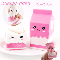 Quente jumbo kawaii squishy saco de caixa de leite/garrafa/pode espremer diversão macio lento subindo bonito antiestresse brinquedo alívio do estresse squishes alimentos