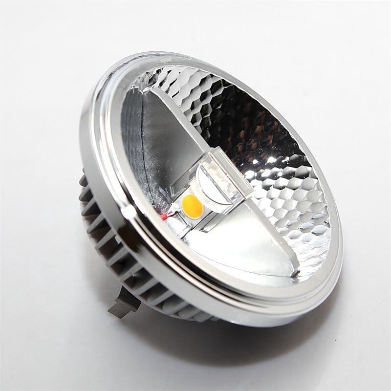 50pcs AR111 15W COB LED Downlight AR111 QR111 G53 LED Bulb light Dimmable AC110V 220V DC12V