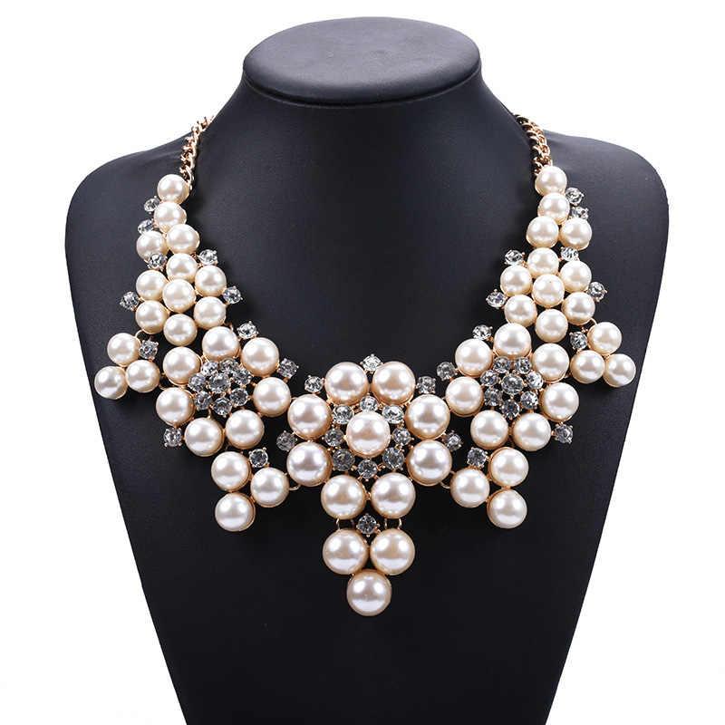 Новое большое Роскошное винтажное жемчужное ожерелье с короткой жемчужной подвеской подчеркивает декольте ожерелье ювелирные изделия