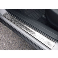 4pcs Set Stainless Steel Car Outer Door Sill Scuff Plate Guard Trim Fit For Mazda CX