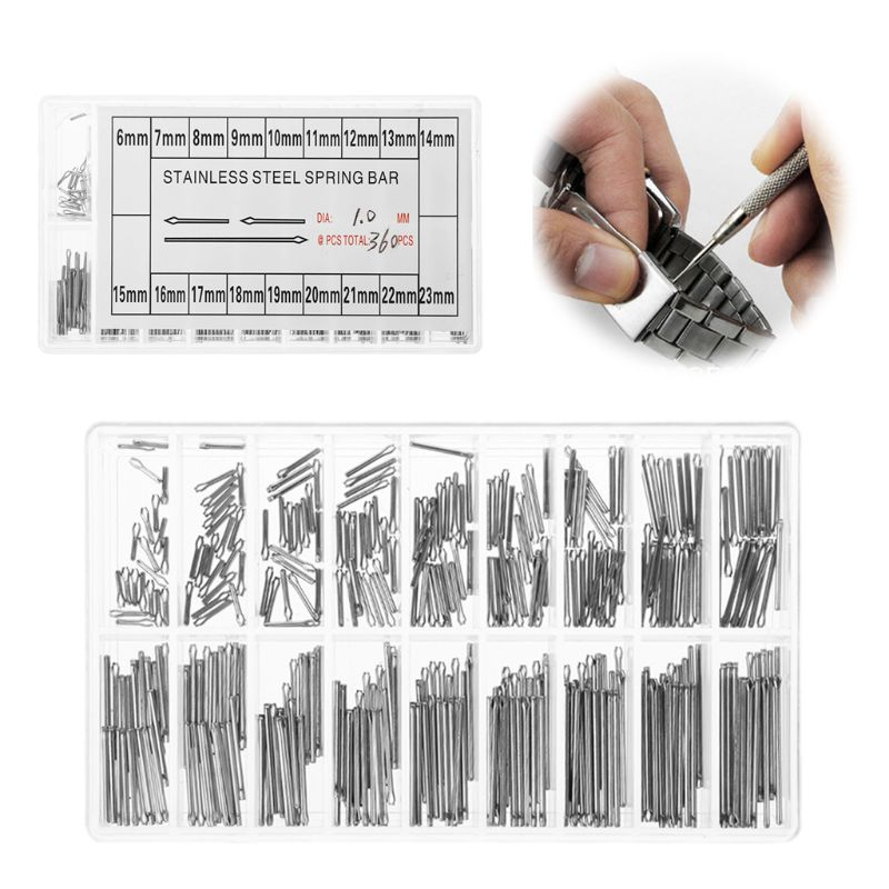 1 Set Watch Pins 1mm Diameter Stainless Steel Repair Tools Watch Strap Accessories Multi Sizes Watchmaker Professional Universal