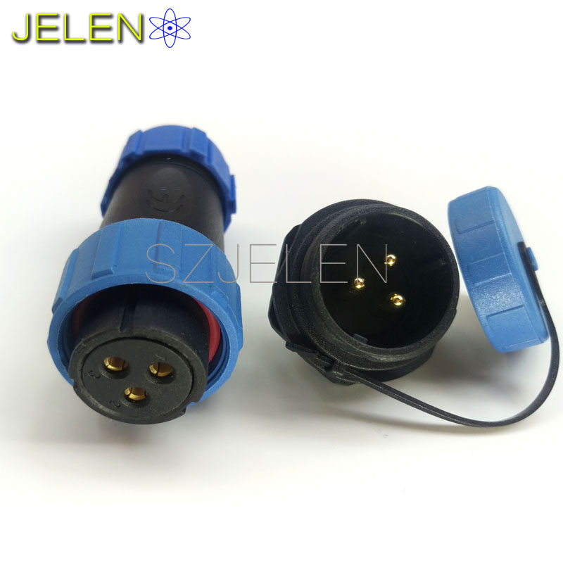 SP2110/S,Retail and wholesale, high-voltage cable connector 3 pin,Female plug, male socket,Inversion waterproof  Connector,IP68 кaпот вaз 2110 тaльяти