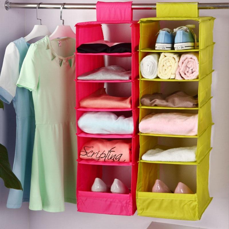 Hanging Box Underwear Sorting Clothing Shoe Jean Storage Mails Door Wall Closet Organizer Closet Organizadores Bag V4534