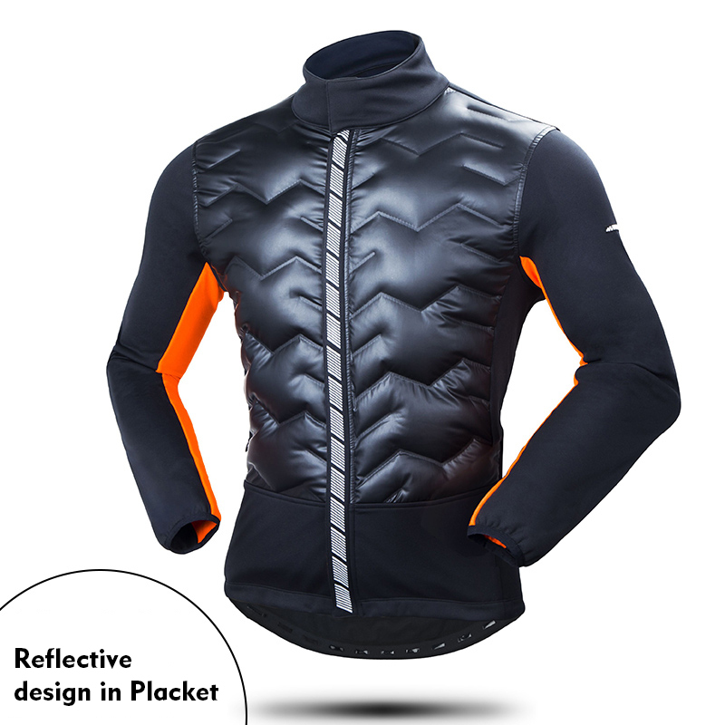 Winter Bicycle Jacket Windproof Ourdoor Sport Running Climbing Fishing Camping Down Clothes Mens Cycling Bike Clothing Coat
