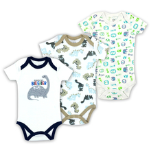 3PCS 100%Cotton Infant Body Short Sleeve Clothing Similar Jumpsuit Printed Baby Boy Girl Bodysuits