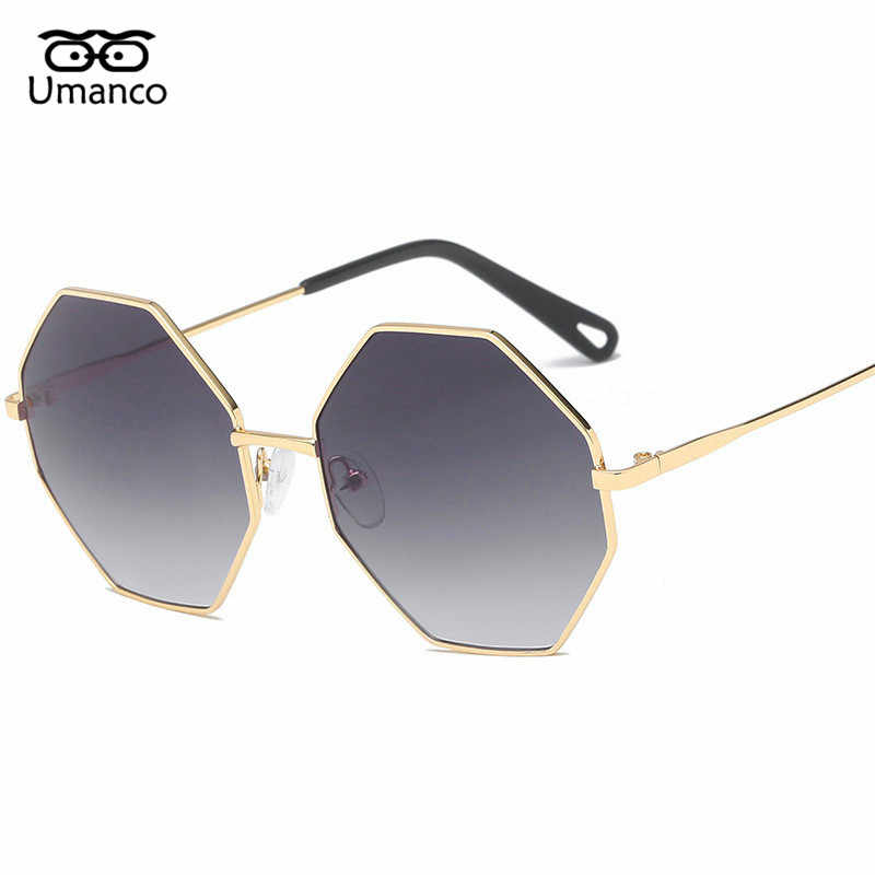6c6c509eb8 Umanco Dazzling Colors Gradient Sunglasses Polygonal Metal Frame Women Men  Sun Glasses Strong Shades Mirror Driving