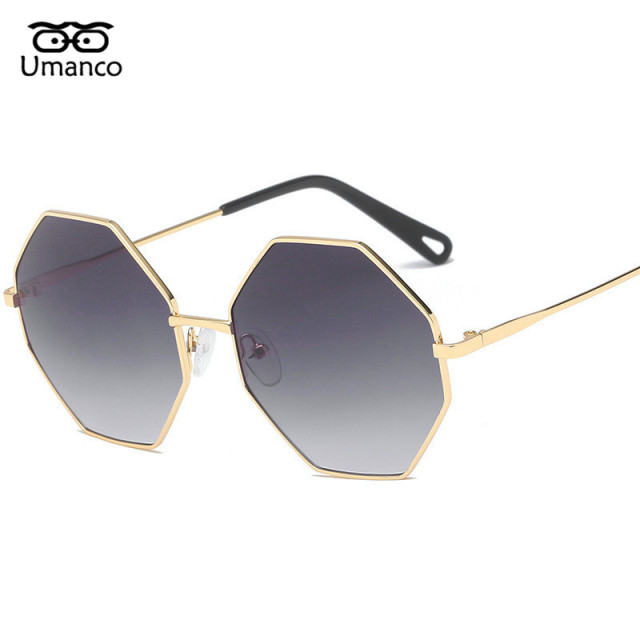 c9c03071402 Umanco Dazzling Colors Gradient Sunglasses Polygonal Metal Frame Women Men  Sun Glasses Strong Shades Mirror Driving Eyewears