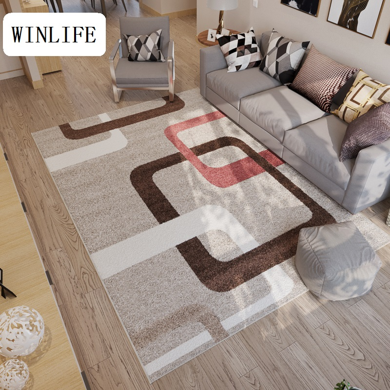Us 62 99 10 Off Winlife North European Carpets Fl Plaid Rugs For Living Room Bedroom Hotel Machine Washable Area Floor Mats In Carpet