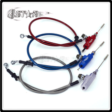 Motorcycle Hydraulic clutch Master Slave Cylinder Rod System Efficient Transfer Pump With 1200MM Hose For Dirt Street Bike