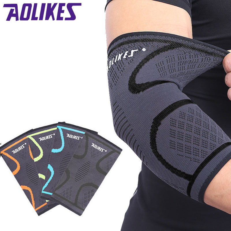 AOLIKES 1PCS Arm Sleeve Elbow Brace Elbow Support Elastic Gym Sport Elbow Protective Pad Absorb Sweat Sport Basketball breathable elbow brace support pressurized bandage outdoor elbow pads for sport basketball fitness elastic arm elbow protector
