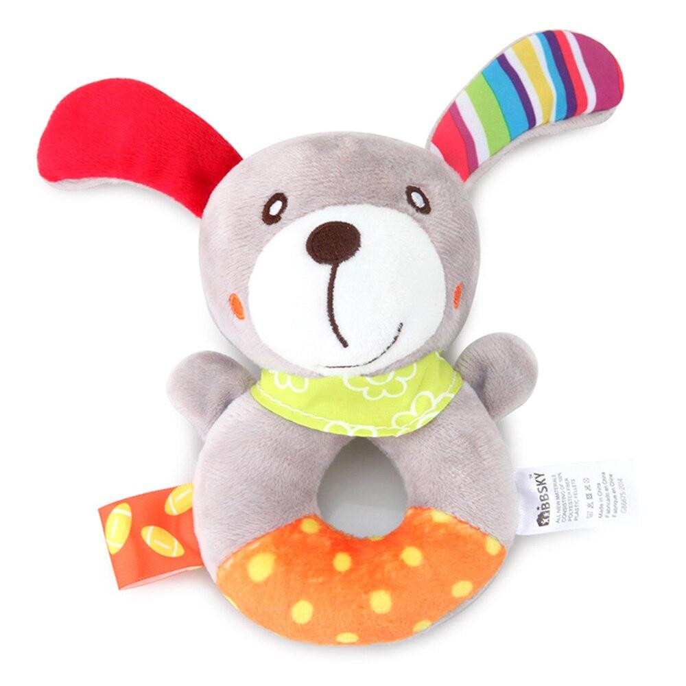 Детские погремушки Fulljion, развивающие игрушки для детей, Прорезыватель для зубов, Колокольчик для малышей, детская коляска, подвесные куклы - Цвет: rattle dog