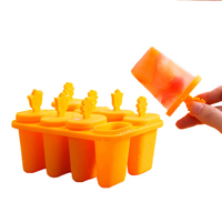 Lolly Mould Tray Pan Kitchen Randomly Color 8 6 Cell Frozen Ice Cube Molds Popsicle Maker