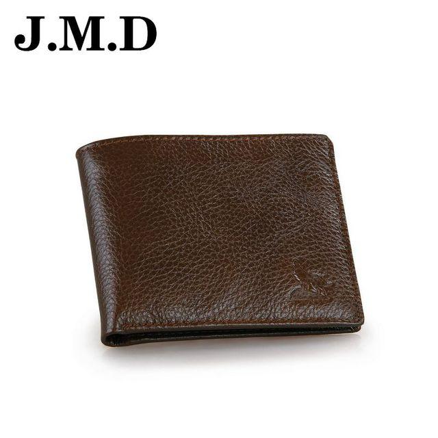 JMD 2017 Hot Sale Brand Genuine Leather Men Short Wallets Retro Card Photo Cion Purse High Quality Male Clutch  Bags JD063