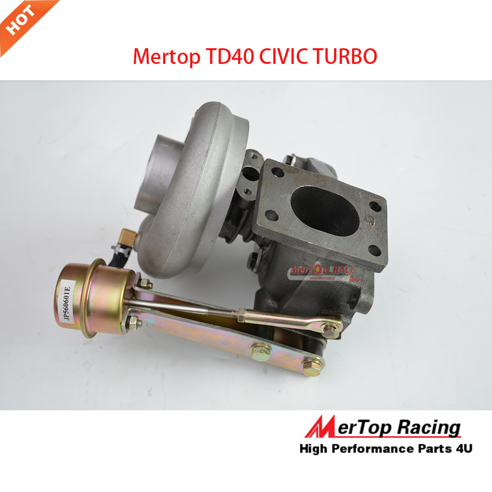 US $238 0 |Mertop UPGRADE T25 TD40 CIVI* RACING TURBINERACING TURBINE TURBO  for D15 D16  0 66 AR 76 TRIM 420+HP-in Turbo Chargers & Parts from