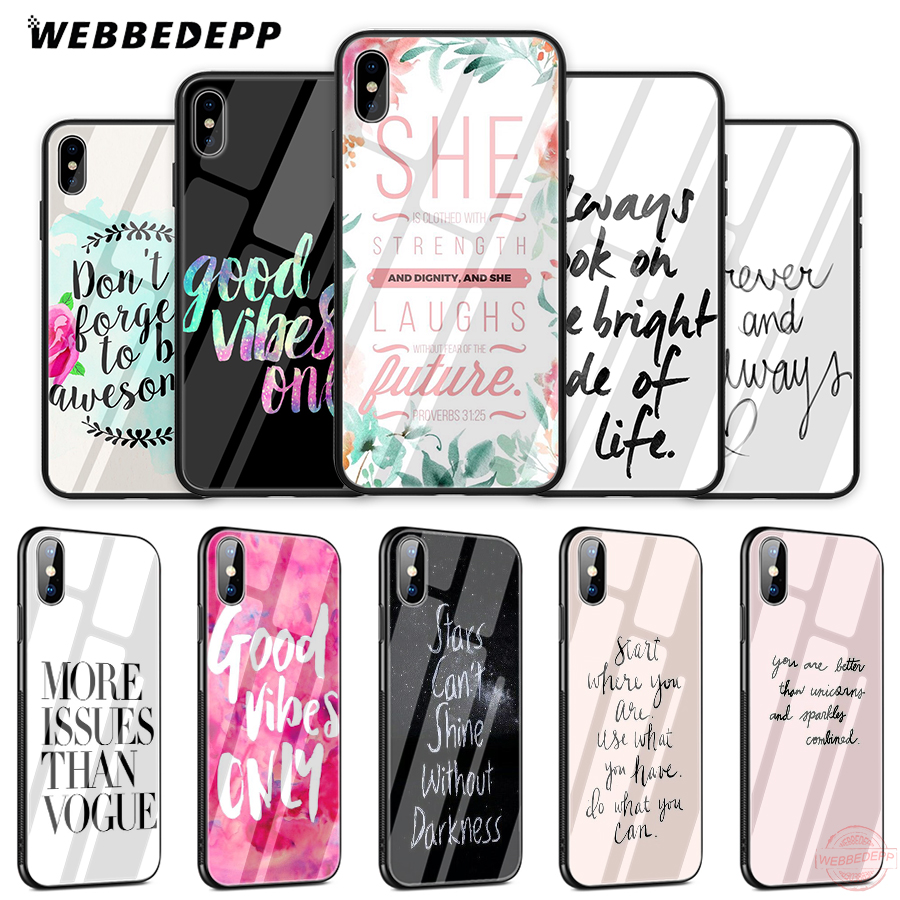 Phone Bags & Cases Cellphones & Telecommunications Babaite Proverb Phrase Motto Good Vibes Only Love Novelty Fundas Phone Case For Iphone 8 7 6 6s Plus X Xs Max 5 5s Se Xr 10