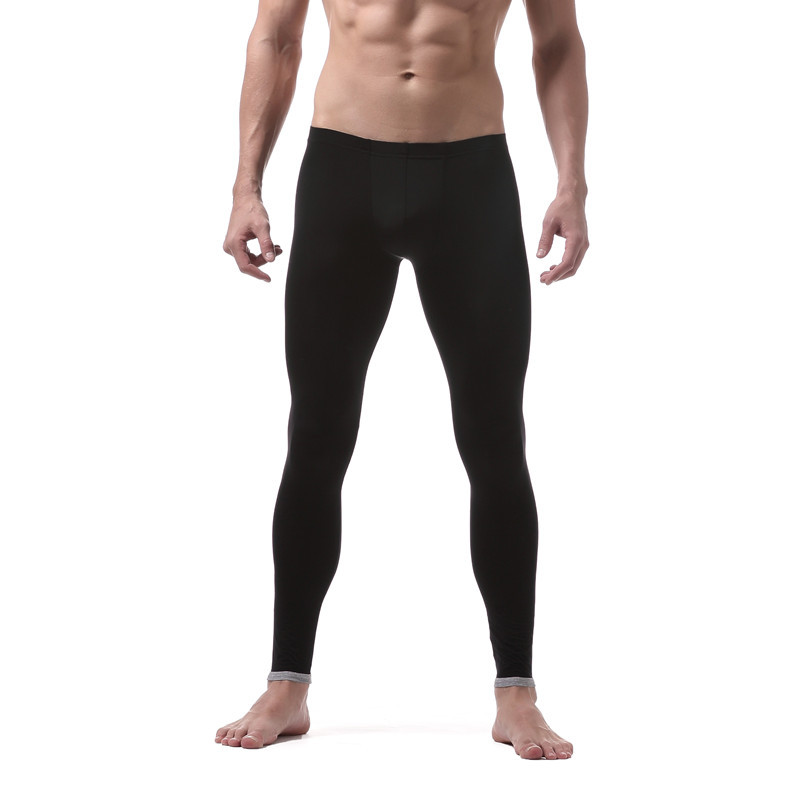 60e825e4ee873e Male Ice Silk Thermal Underwear Men's Long Johns Bottom Thermo Elastic  Silky Translucent Sleepwear Leggings Solid Home Pants-in Long Johns from  Underwear ...