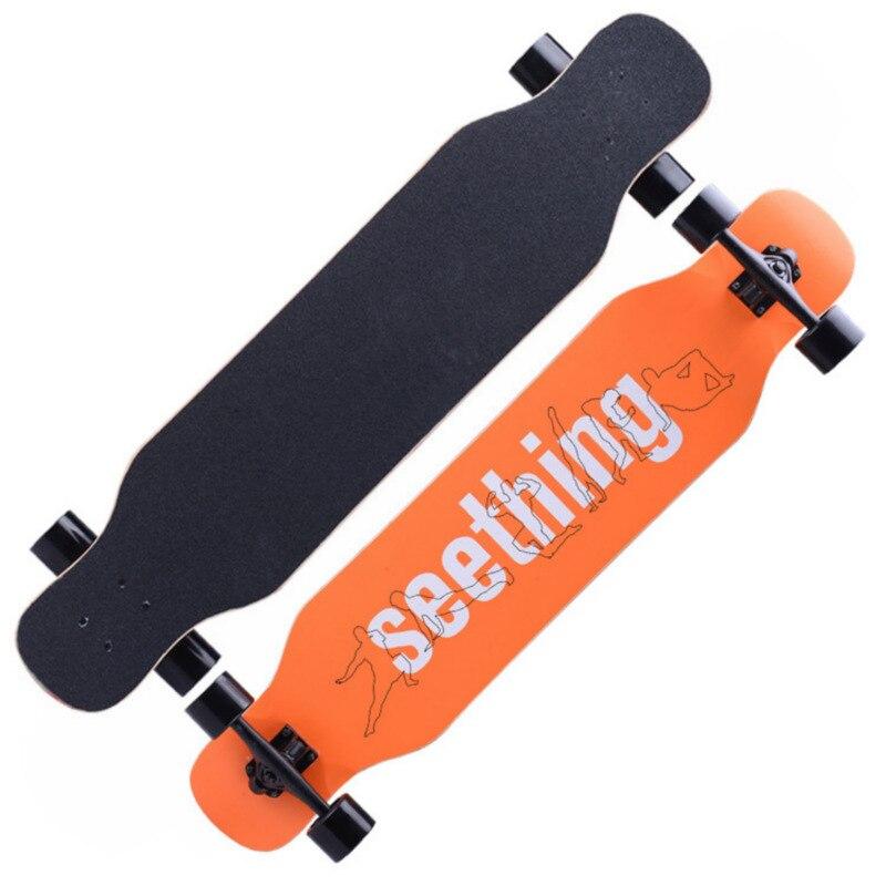 Planche à roulettes complète de Longboard d'érable professionnelle dansant la dérive de descente Double planche à roulettes à bascule