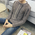 Venda quente do estilo Novo 2016 Casual Outono inverno quente crochet roupas importadas roupas camisola dos homens plus size M-5XL