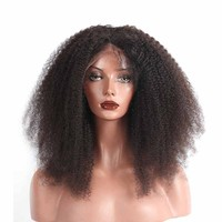 Afro Kinky Curly Wig 250% Density Lace Front Human Hair For Women Pre Plucked With Baby Hair Brazilian Wig Sunny Queen Remy