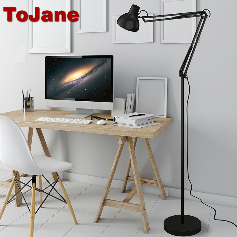 ToJane Modern Stand Floor Lamp TG610-S Simple Floor Lamps For Living Room Folding Standing Lamp Lambader Stehlampe modern wooden floor lamps bookshelf floor stand lights tea table standing lamp living room bedroom locker nightstand lighting