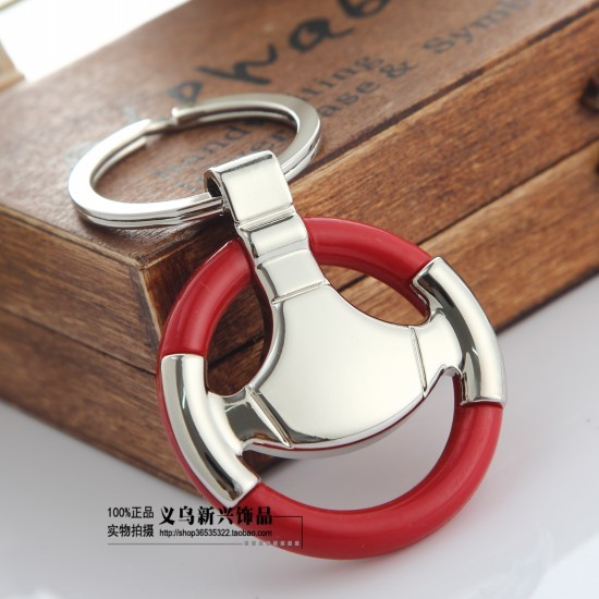 Car steering wheel keychain male women s personalized gifts car key ring  chain 72050219c4