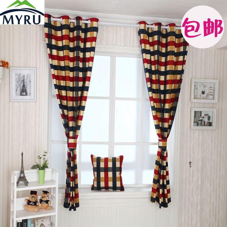 myru edimburgo celosa cortina cortinas semisombra cortina de tela a cuadros de tela de