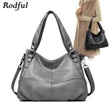 Yüksek kaliteli büyük gri siyah deri crossbody omuzdan askili çanta kadın büyük kadın çanta deri bayan el çantaları kadın