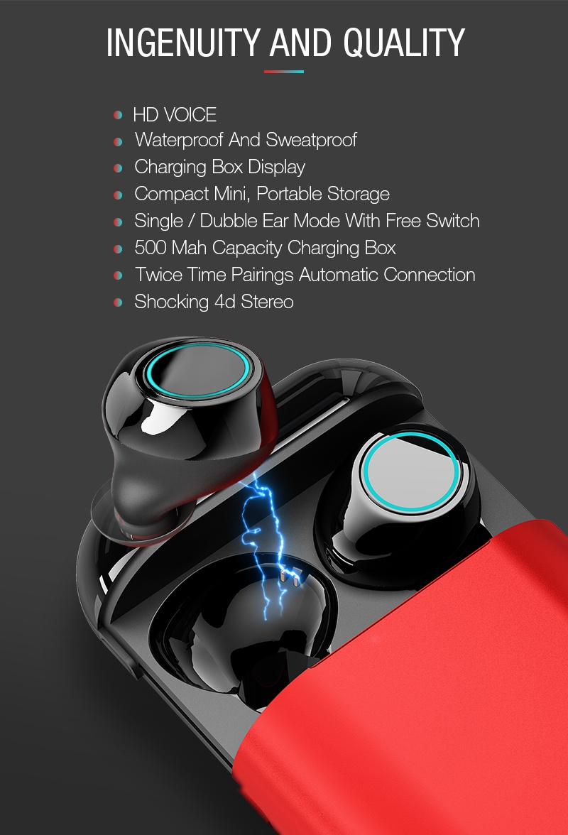 Artisome Wireless Bluetooth Earphone TWS Earbuds Bluetooth Headphones Stereo V4.2 Bluetooth Earphone With Mic and Charging Case (3)
