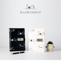 New Cute Hard Copybook Composition Book Daily Memos Mine Emotional Password Notebook