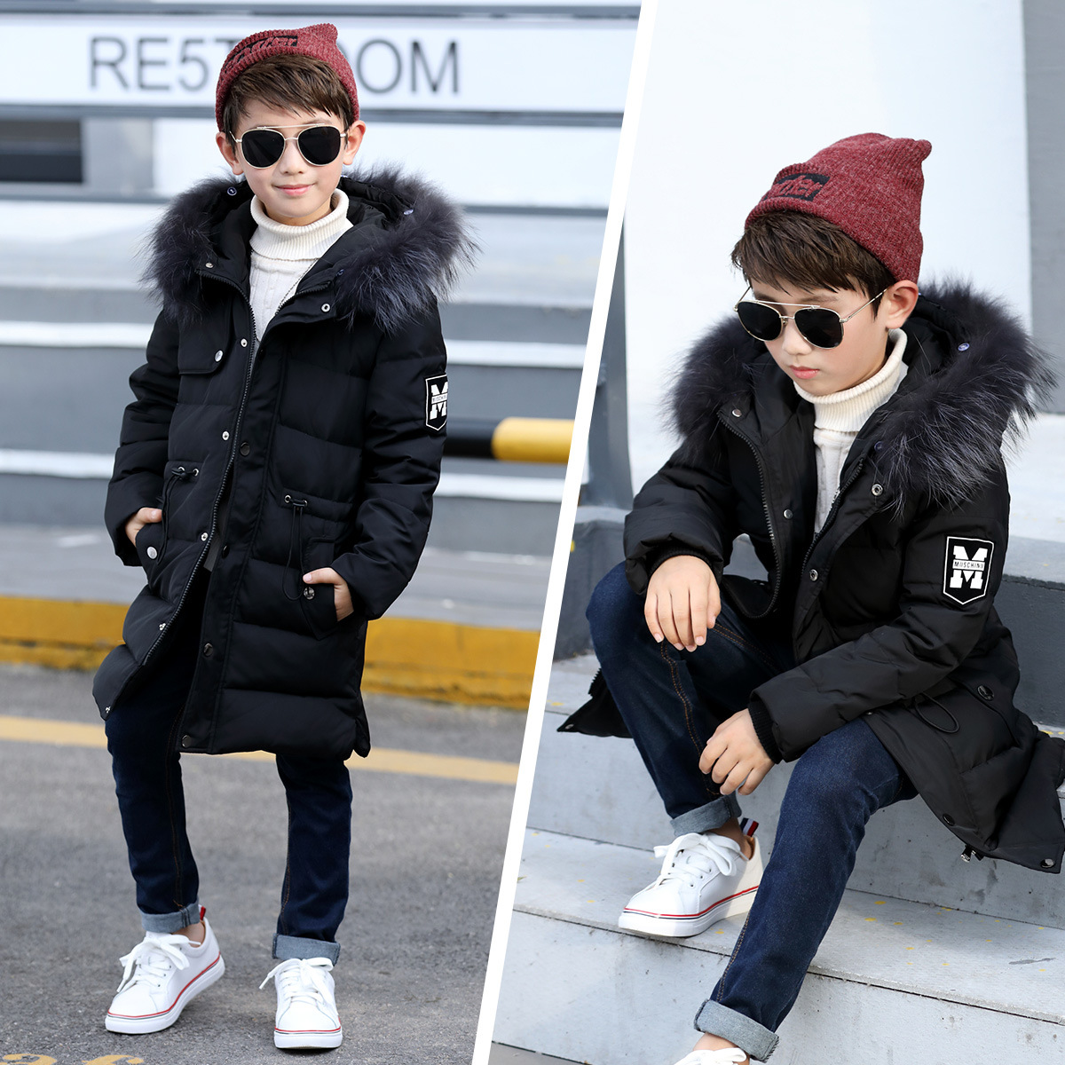 2017 Warm Children's Down Jackets Brand Baby Boy Thick Duck Down Coats Kids Jacket Children Outerwears with Real Fur Cold Winter fashion boys down jackets coats for winter warm 2017 baby boy thick duck down coat real fur children outerwears for cold winter