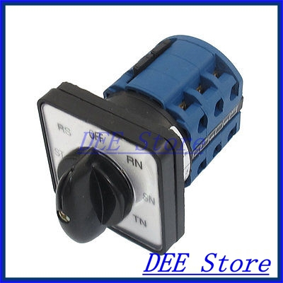 690V 20A 12 Terminals Rotary Contarol Cam Universal Combination Switch thgs 8 terminals 5 positions master control rotary cam switch 20a black blue