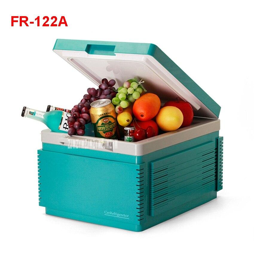 12 L Mini Fridge Refrigerator Car Home A Dual Use Compact Car Fridge Portable Freezer 12/220 V Temperature Variations FR-122A