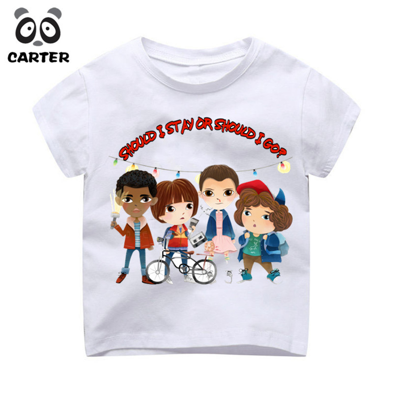 2aac00dce Boys Girls Cartoon Stranger Things Character Printed Funny T shirts ...