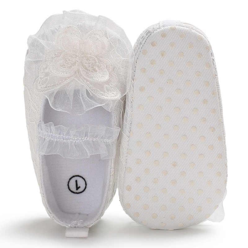 ลูกไม้ Princess รองเท้าเด็ก 2019 ฤดูร้อนสีขาวใหม่