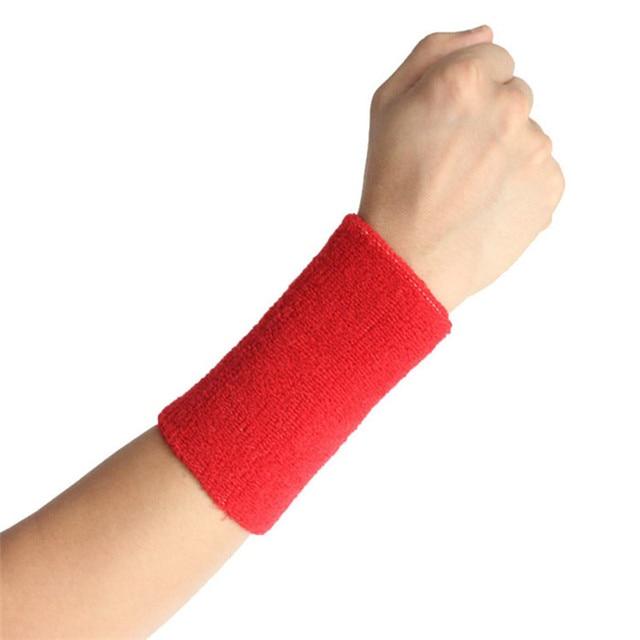 8*15cm Gym Protector Wristbands 100% Cotton Weightlifting Wrist Support Sport Pulseira Wrist Brace Tennis Sweatbands Guard LT005