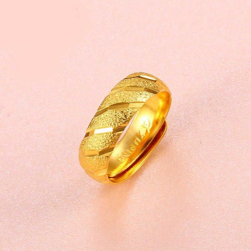 MxGxFam Frost Nhẫn (điều chỉnh) Cho Phụ Nữ Cô Gái Mẹ Bạn Bè 24 k màu Vàng Tinh Khiết Nickel Miễn Phí XP Đồ Trang Sức