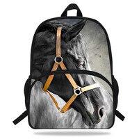 16 inch Kind Mode Paard Rugzak Animal Print Tas Meisjes Reistas Tieners Jongens Schooltas-in Schooltassen van Bagage & Tassen op