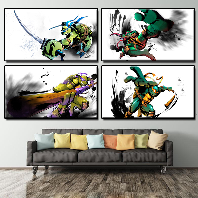 Turtle, Wall, Giclee, Murals, Printing, Pop