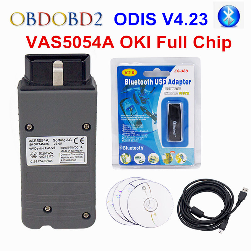 ODIS V4.23 VAS5054A OKI Full Chip VAS 5054A Bluetooth USB For Audi VAS5054 A Support UDS Protocol Car Diagnostic Tool Scanner xtool iobd2 diagnostic tool for bmw for iphone ipad iobd2 code scanner by bluetooth support obdii eobd protocol car diagnose
