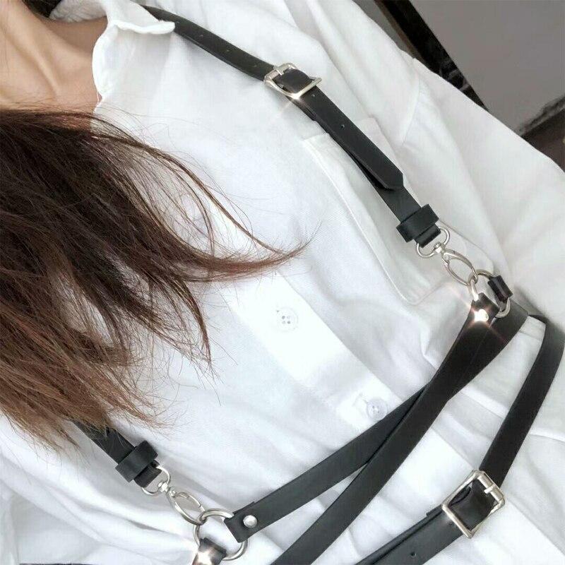 Mode Punk Body Strumpfband PU Leder Harness Taille Gürtel Straps