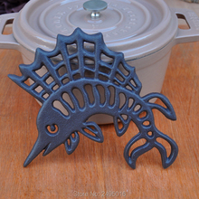 Cast Iron Sea horse Trivet - Decorative For Kitchen Or Dining Table Vintage, Rusted Design